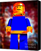 Science Fiction Canvas Prints -  Lego Spaceman Canvas Print by Bob Orsillo