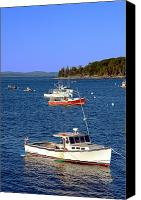 Scenic Canvas Prints -  Maine Lobster Boat Canvas Print by Olivier Le Queinec