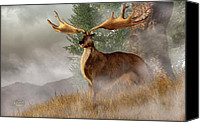 Ice Age Canvas Prints -  Megaloceros Giganteus Canvas Print by Daniel Eskridge
