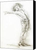 Most Liked Canvas Prints -  Michael Jackson Live Canvas Print by David Lloyd Glover