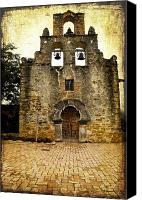 San Antonio Canvas Prints -  Mission Espada Canvas Print by Iris Greenwell