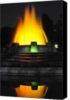 Bruster Canvas Prints -  Mulholland Fountain Reflection Canvas Print by Clayton Bruster