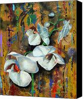 Umber Canvas Prints -  Orchid YO Canvas Print by Laura Pierre-Louis