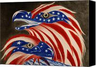 4th Of July Pastels Canvas Prints -  Proud of Eagle Canvas Print by Jalal Gilani