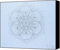 Energy Drawings Canvas Prints -  Quantum Snowflake Canvas Print by Jason Padgett