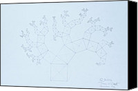 Mit Drawings Canvas Prints -  Quantum Tree Canvas Print by Jason Padgett