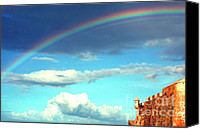 Old San Juan Canvas Prints -  Rainbow over El Morro Fortress Canvas Print by Thomas R Fletcher