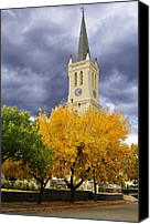 Time For Change Canvas Prints -  Richmond Church Tree Autumn Canvas Print by Joe Lategan