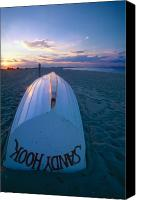 Beach Canvas Prints -  Sandy Hook Beach Sunset Canvas Print by George Oze