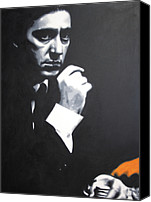 1969 Canvas Prints - - The Godfather - Canvas Print by Luis Ludzska