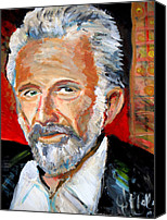 Jon Baldwin Art Canvas Prints -   The Most Interesting Man In The World Canvas Print by Jon Baldwin  Art