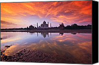India Canvas Prints - .: The Taj :. Canvas Print by Photograph By Ashique