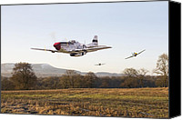 P51 Mustang Canvas Prints -  Through the Gap Canvas Print by Pat Speirs
