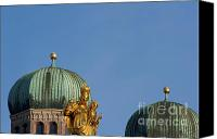 Frauenkirche Canvas Prints -  Towers of Frauenkirche Canvas Print by Andrew  Michael