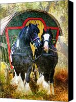 Caravan Canvas Prints -  Travellers Canvas Print by Trudi Simmonds