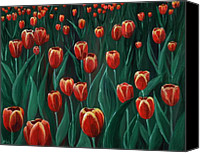 Floral Drawings Canvas Prints -  Tulip Festival Canvas Print by Anastasiya Malakhova