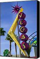 Gambling Canvas Prints -  Vegas Sign Canvas Print by Garry Gay