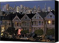 Painted Ladies Canvas Prints -  VICTORIAN PAINTED LADIES of ALAMO SQUARE - SAN FRANCISCO Canvas Print by Daniel Hagerman