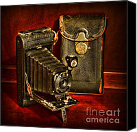 Vintage Photography Canvas Prints -  Vintage Pocket Kodak Camera Canvas Print by Paul Ward