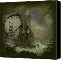 Ocean Digital Art Canvas Prints -  When a Mans Thoughts Turn Toward the Sea Canvas Print by Jeff Burgess