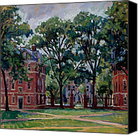 Abstract Realist Landscape Canvas Prints -  Williams College Quad Canvas Print by Thor Wickstrom
