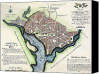 Ellicott Canvas Prints - Washington, Dc, Plan, 1792 Canvas Print by Granger