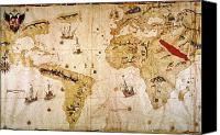 New World Canvas Prints - Vespuccis World Map, 1526 Canvas Print by Granger