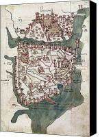 Buondelmonti Canvas Prints - Constantinople, 1420 Canvas Print by Granger