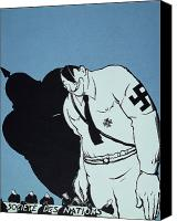 Adolf Canvas Prints - Adolf Hitler Cartoon, 1935 Canvas Print by Granger