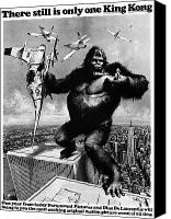 Monster Painting Canvas Prints - King Kong, 1976 Canvas Print by Granger