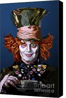 Mad Hatter Canvas Prints - 015. What Can You Do Canvas Print by Tam Hazlewood