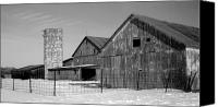 Barn Photo Canvas Prints - 020309-74 Canvas Print by Mike Davis - Micks Pix Photos