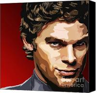 Tv Show Canvas Prints - 062. The Dark Passenger Canvas Print by Tam Hazlewood