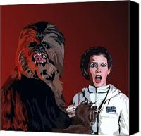 Wars Canvas Prints - 070. Naughty Wookie Canvas Print by Tam Hazlewood