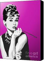Black And White Digital Art Canvas Prints - 096. Breakfast Anyone Canvas Print by Tam Hazlewood