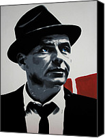 Frank Sinatra Canvas Prints - - Sinatra - Canvas Print by Luis Ludzska