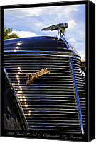 Custom Ford Digital Art Canvas Prints - 1937 Ford Model 78 Cabriolet Convertible by Darrin Canvas Print by Gordon Dean II