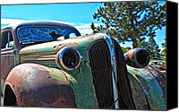 1949 Plymouth Canvas Prints - 1937 Plymouth Canvas Print by Steve McKinzie