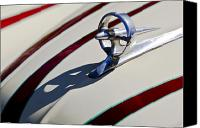 Custom Buick Canvas Prints - 1949 Custom Buick Hood Ornament Canvas Print by Jill Reger