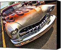 California Hot Rod Canvas Prints - 1951 Mercury Custom Canvas Print by Gordon Dean II