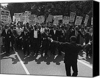 Blacks Canvas Prints - 1963 March On Washington. Famous Civil Canvas Print by Everett