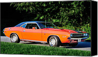 1970 Canvas Prints - 1970 Dodge Challenger RT  Canvas Print by Thomas Schoeller