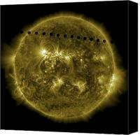 Plasma Photo Canvas Prints - 2012 Transit Of Venus Moving Canvas Print by Stocktrek Images