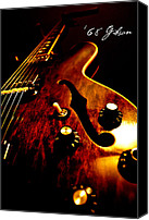 Electric Guitar Canvas Prints - 68 Gibson Canvas Print by Christopher Gaston