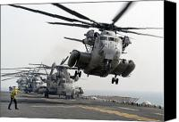 Aircraft Photo Canvas Prints - A Ch-53e Super Stallion Lifts Canvas Print by Stocktrek Images