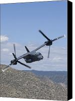 Osprey Canvas Prints - A Cv-22 Osprey On A Training Mission Canvas Print by HIGH-G Productions