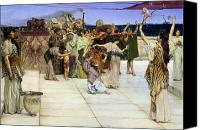 Alma-tadema; Sir Lawrence (1836-1912) Canvas Prints - A Dedication to Bacchus Canvas Print by Sir Lawrence Alma-Tadema