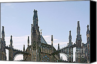 Religions Canvas Prints - A Forest of Spires - St Vitus Cathedral Prague Canvas Print by Christine Till
