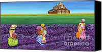 Rural Scenes Mixed Media Canvas Prints - A Moment Canvas Print by Anne Klar