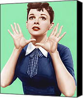 Red Lips Canvas Prints - A Star Is Born, Judy Garland, 1954 Canvas Print by Everett